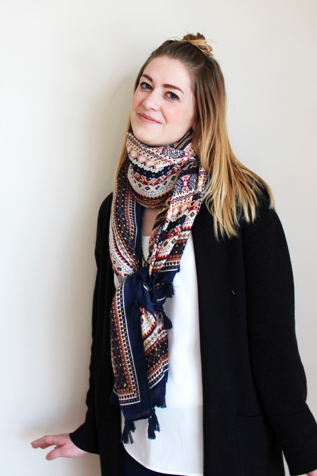 wrap and knot scarf